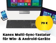 Kanex Multi-Sync-Tastatur für Windows- & Android-Geräte