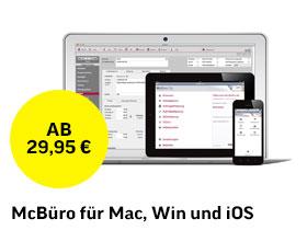 McBüro für Mac, Win und iOS