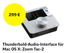 Thunderbolt-Audio-Interface für Mac OS X: ZOOM TAC-2