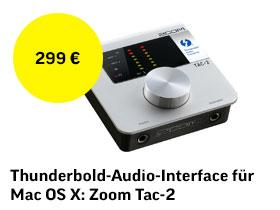 Thunderbolt-Audio-Interface für Mac OS X: ZOOM TAC-2