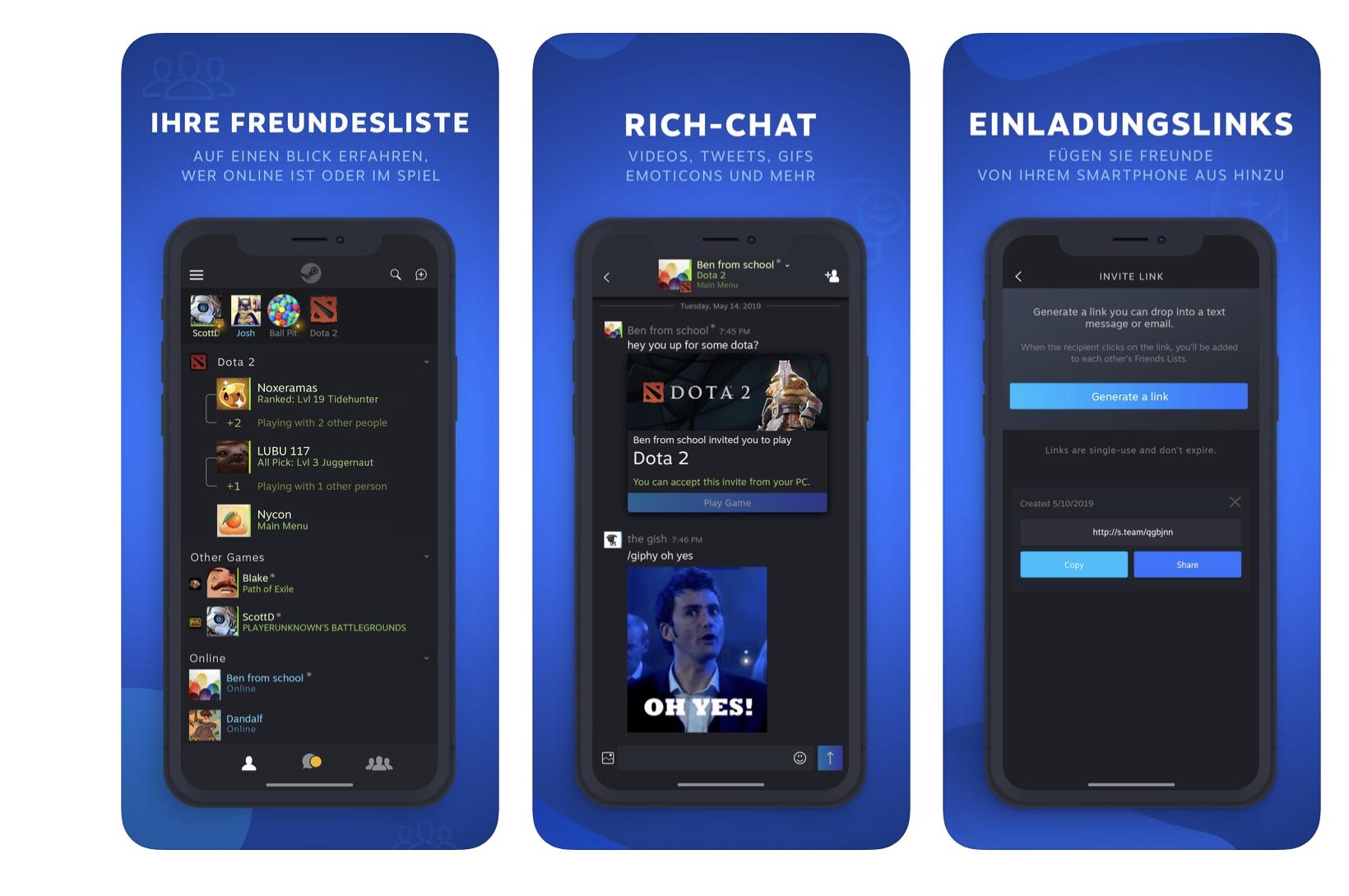 Valve veröffentlicht Steam-Chat-App für iOS