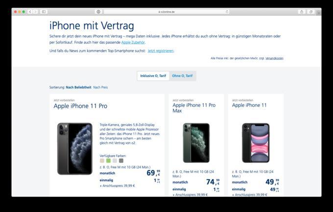 iPhone 11 & Co.: die neuen iPhone-Tarife von Telekom, Vodafone und O2 im Vergleich