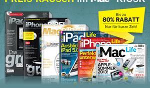 Preis-Rausch im Mac-Life-Kiosk: Topaktuelle Magazine zum einmaligen Schnäppchenpreis!