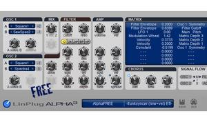 LinPlug FreeAlpha - Softsynth in neuer Version
