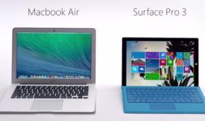 Werbekampagne: Microsoft vergleicht MacBook Air mit Surface Pro 3