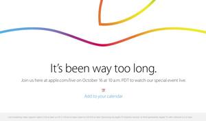 iPad-Event: Apple bestätigt Live-Stream für den 16. Oktober