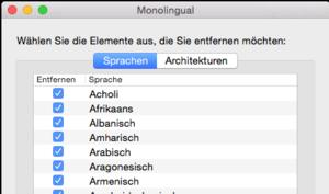 Monolingual: Gratis-Tool gibt wertvollen Festplatten-Speicherplatz wieder frei