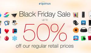 Black Friday bei equinux: Bis zu 50 Prozent auf reguläre Preise - tizi for Mac DVB-T, tizi Flachmann und vieles mehr