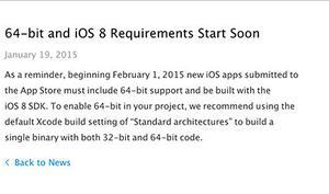 64-Bit-Apps: Apple weist Entwickler erneut auf die App-Store-Umstellung am 1. Februar hin