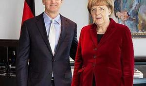 """""""Das war großartig! Ich liebe Deutschland!"""": Tim Cook bei Angela Merkel - Internet-Sicherheit und Umweltschutz als zentrale Themen"""