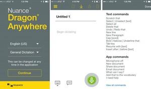 Dragon Anywhere für iOS transkribiert Diktate