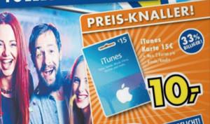 iTunes-Karten bis zu 33 Prozent günstiger