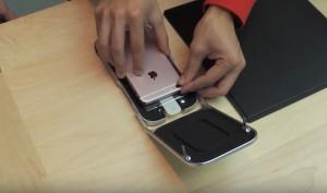 Apple Store trägt iPhone-Display-Schutzfolien professionell auf