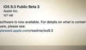 iOS 9.3 und OS X 10.11.4 Beta 3 kostenlos für Alle