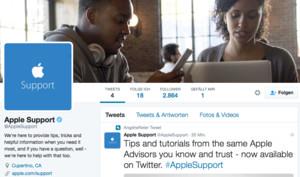 @AppleSupport: Offizielles Twitter-Konto für Tipps, Tricks und Hilfe