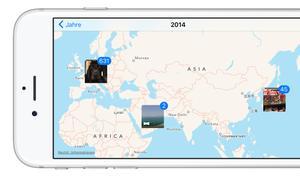 So zeigt dir die Fotos App am iPhone Bilder auf einer Karte an
