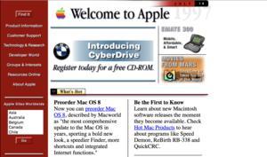 19 Jahre Apple-Homepage: Ein Zeitraffer in Bildern