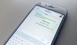 So formatierst du WhatsApp-Nachrichten: fett kursiv, durchgestrichen