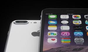 iPhone 7 mit altem Kopfhörer plus Lightning-Adapter