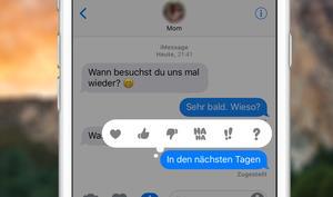 iOS 10: So nutzen Sie die Tapbacks in der Nachrichten-App