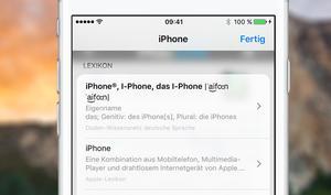 iOS 10: So schlagen Sie schnell Wörter nach - ohne Google