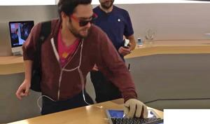 Radikaler Hipster zerstört Apple Store