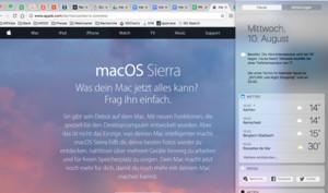 macOS Sierra: Apple hat die Nachrichtenzentrale überarbeitet