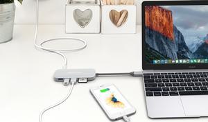 Passend zum neuen MacBook Pro: USB-Hub mit Kartenleser und HDMI-Ausgang im Angebot