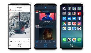 So könnte eine Touch Bar auf dem iPhone 8 funktionieren