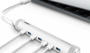 Von Aukey: 7-Port-USB-Hub mit Ladefunktion, fürs neue MacBook reduziert