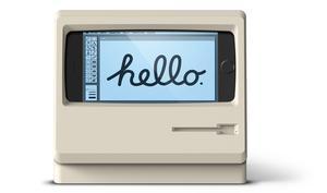 Voll Retro: So wird das iPhone zum 1984er Macintosh