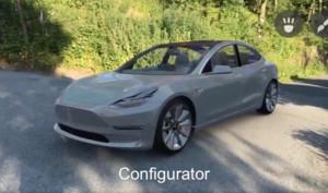 Tesla Model 3 in ARKit nachgebaut - mit Individualisierungsmöglichkeiten