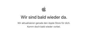 Es geht los: Apple Store schon offline