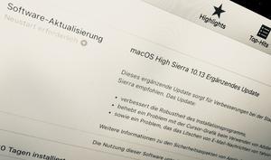 Apple handelt schnell: Update für macOS High Sierra schließt Sicherheitslücken