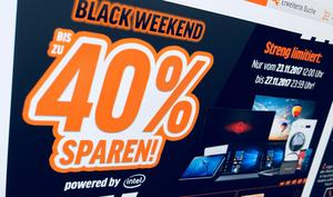 Black Friday bei Notebooksbilliger bedeutet Black Weekend
