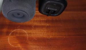 Sonos One hinterlässt ebenfalls weiße Ringe auf Holz