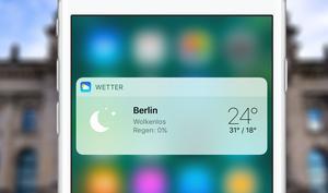So aktivieren Sie Widgets am iPhone via 3D Touch