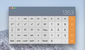 So gibt Ihnen der Taschenrechner am Mac alle Eingaben aus