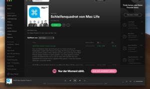 Schleifenquadrat: Den Mac-Life-Podcast gibt es ab sofort auch bei Spotify
