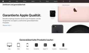 Apples Sonderseite für generalüberholte Produkte erstrahlt im neuen Design