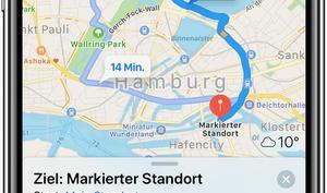 Unterwegs mit Apple Watch und iPhone: Navigieren von Ort zu Ort