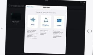 So erstellen Sie einen Klingelton mit GarageBand am iPad