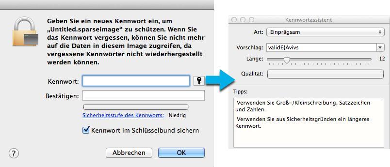 daten mit passwort schützen mac