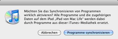 iTunes Bibliothek mitsamt Apps & Synchronisation auf einen ...