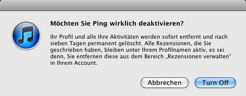 ping itunes ending relationship