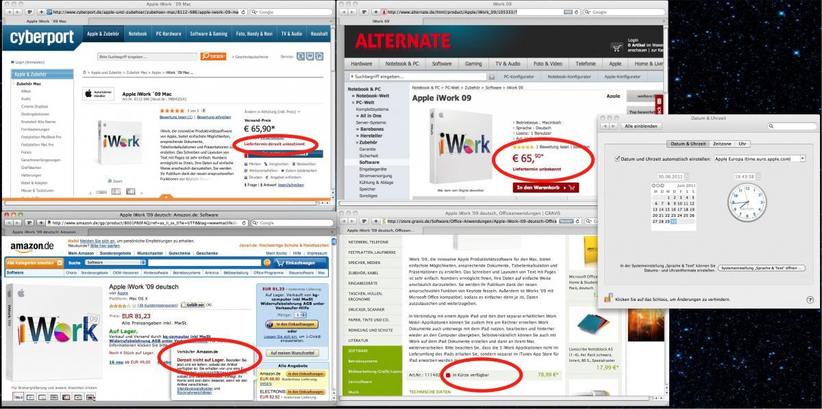 iWork '09: Liefertermin derzeit unbestimmt, Nachfolger bald