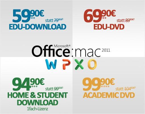 Microsoft Office for Mac 2011 zum Sonderpreis für maclife de