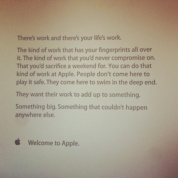 so hei t apple neue mitarbeiter willkommen mac life. Black Bedroom Furniture Sets. Home Design Ideas