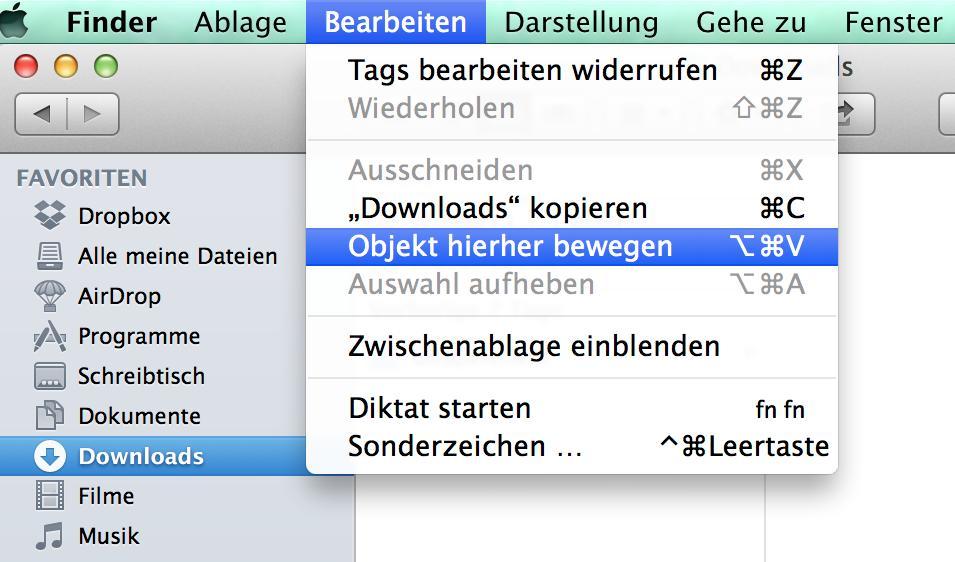 Os X Mavericks Datei Im Finder Kopieren Einfügen Mac Life