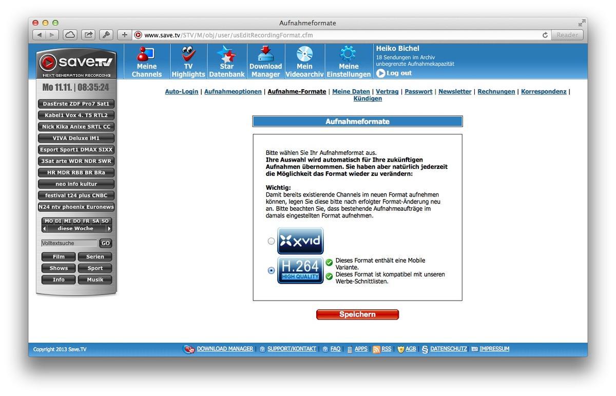 Save.TV: So funktioniert der Online-TV-Rekorder   Mac Life